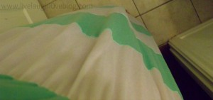 Live.Laugh.L0ve. // What I Wore - Mint + White chevron maxi dress