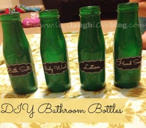 Live.Laugh.L0ve. // DIY Coffee Bottles for the Bathroom