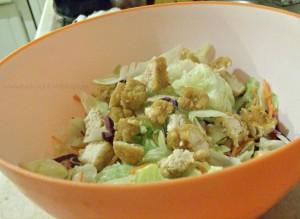 Tyson Popcorn Chicken Salad recipe & a movie night #shop