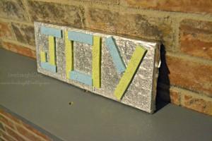 DIY Joy Sign made with Gum via @clivelaughl0ve #GiveExtraGum #shop #cbias
