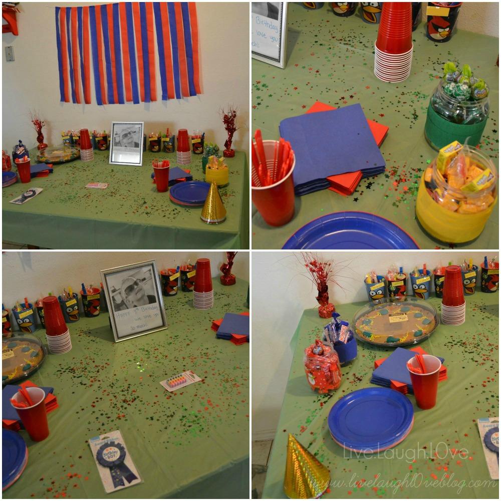 Angry Birds birthday party decor