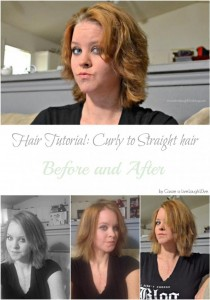 Live.Laugh.L0ve. // Hair Tutorial: From Curly to Straight