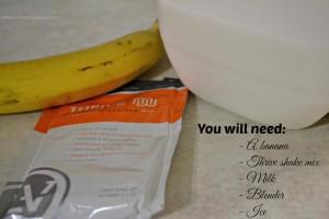 Live.Laugh.L0ve. // Simple and Easy Vanilla Banana Thrive Shake