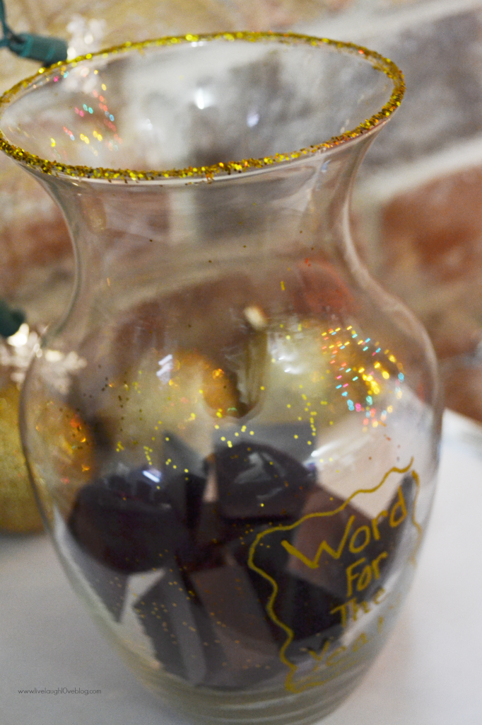 Live.Laugh.L0ve. // DIY Word for the Year Jar