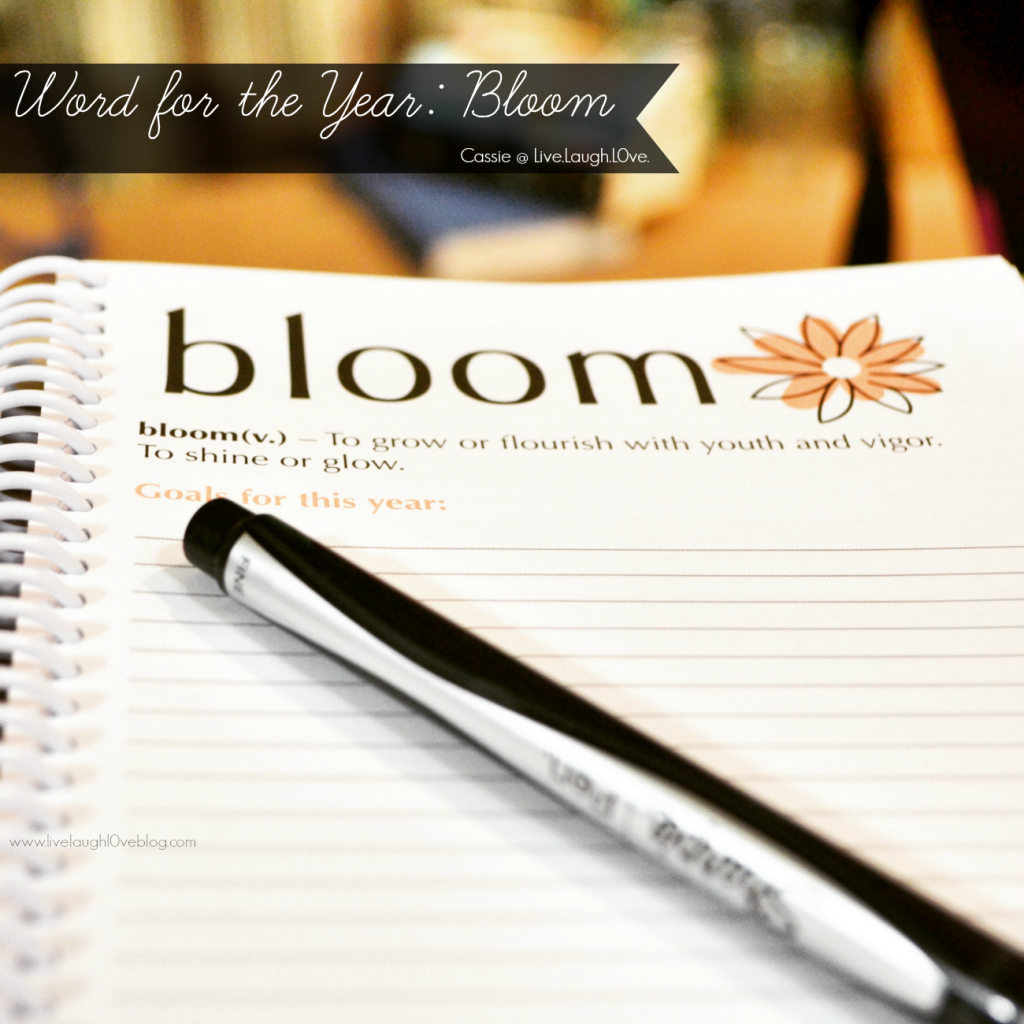 Live.Laugh.L0ve. // Word for the Year: Bloom